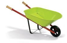 Plechový kolečko pro děti Natur' Metal Wheelbarrow Janod s nářadím zelený