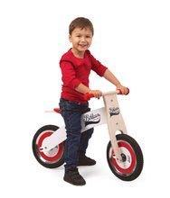 Drevené odrážadlá - Drevený balančný bicykel Bikloon Janod Red&White od 3 rokov_0