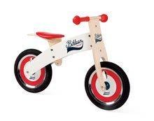 Drevené odrážadlá - Drevený balančný bicykel Bikloon Janod Red&White od 3 rokov_1