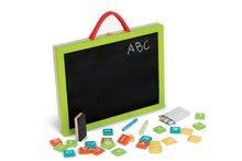Školské tabule - Drevený kufrík Magic Suitcase 4v1 Janod s magnetickou tabuľou a 44 doplnkami od 3 rokov_0
