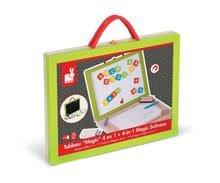 Školské tabule - Drevený kufrík Magic Suitcase 4v1 Janod s magnetickou tabuľou a 44 doplnkami od 3 rokov_3