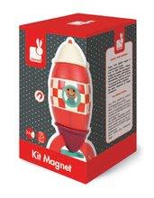 Autíčka - Drevená magnetická skladačka Raketa Kit Magnet Janod 9 dielov od 24 mes_3