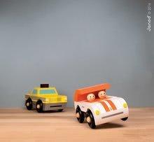 Autíčka - Drevená magnetická skladačka Auto Roadster Kit Magnet Janod 9 dielov oranžové od 24 mes_1