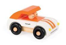 Autíčka - Drevená magnetická skladačka Auto Roadster Kit Magnet Janod 9 dielov oranžové od 24 mes_2