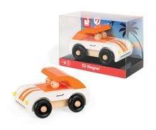 Autíčka - Drevená magnetická skladačka Auto Roadster Kit Magnet Janod 9 dielov oranžové od 24 mes_3