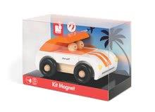 Autíčka - Drevená magnetická skladačka Auto Roadster Kit Magnet Janod 9 dielov oranžové od 24 mes_4