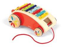 Ťahacie hračky - Drevený vozík s xylofónom Red Tatoo Janod na ťahanie od 18 mes_0