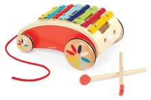 Ťahacie hračky - Drevený vozík s xylofónom Red Tatoo Janod na ťahanie od 18 mes_3