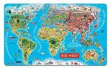 Magnetická mapa světa Magnetic World Map German Version Janod od 5 let 92 magnetů