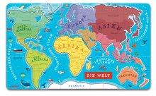 Magnetky pre deti - Magnetická mapa sveta Magnetic World Map nemecká verzia Janod 92 magnetov od 5 rokov_0