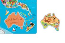 Magnetky pre deti - Magnetická mapa sveta Magnetic World Map španielska verzia Janod _2