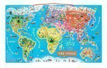 Magnetická mapa světa Magnetic World Puzzle English Version Janod od 5 let 92 magnetů