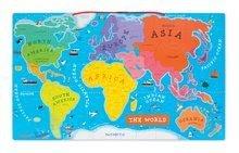 Magnetky pre deti - Magnetická mapa sveta Magnetic World Puzzle English Version Janod 92 magnetov od 5 rokov_0