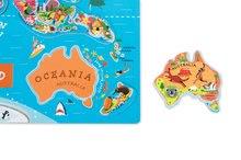 Magnetky pre deti - Magnetická mapa sveta Magnetic World Puzzle English Version Janod 92 magnetov od 5 rokov_2