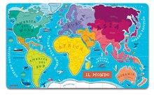 Magnetky pre deti - Magnetická mapa sveta World Map Magnetic talianska verzia Janod 92 magnetov od 5 rokov_0