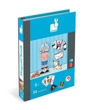 Magnetky pre deti - Magnetická kniha Boy's Outfits Magneti'Book Janod 8 kariet_2