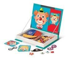 Magnetická kniha Crazy Face Magneti Book Janod a 12 karet