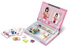 Magnetická kniha Girl 's Outfits Magneti'Book Janod a 8 karet