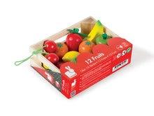 Drevené kuchynky - Drevené ovocie Janod v bedničke 12 ks_2