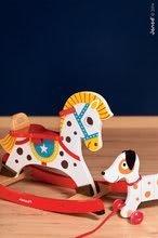 Ťahacie hračky - Drevený pes Rocky Janod na ťahanie s taškou od 12 mes_2