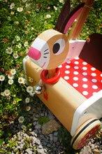 Drevené kočíky pre bábiky  - Drevené chodítko Veselý zajac Janod so zvukom_4