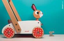 Drevené kočíky pre bábiky  - Drevené chodítko Veselý zajac Janod so zvukom_3