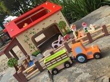 Poľnohospodárske stroje - Drevená stavebnica Šťastná farma Wooden Worlds Janod s 19 doplnkami od 3 rokov_5