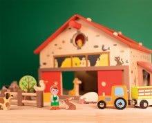 Poľnohospodárske stroje - Drevená stavebnica Šťastná farma Wooden Worlds Janod s 19 doplnkami od 3 rokov_3