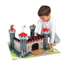Detské puzzle do 100 dielov - Stavebnica Hrad Čierneho rytiera Cardboard puzzle Janod s 9 doplnkami od 4 rokov_3