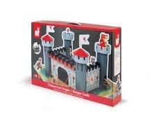 Detské puzzle do 100 dielov - Stavebnica Hrad Čierneho rytiera Cardboard puzzle Janod s 9 doplnkami od 4 rokov_4