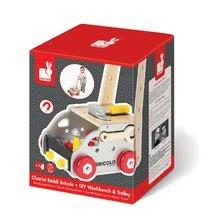 Pracovná detská dielňa - Drevený pracovný vozík Redmaster Bricolo Janod magnetický s 24 doplnkami_3