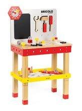 Dřevěný magnetický pracovní stůl Janod Redmaster Giant Bricolo XL s 40 doplňky