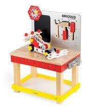 Pracovná detská dielňa - Drevený magnetický pracovný stôl Janod Redmaster Giant Bricolo XL so 40 doplnkami_0