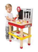 Pracovná detská dielňa - Drevený magnetický pracovný stôl Janod Redmaster Giant Bricolo XL so 40 doplnkami_3