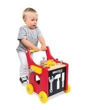 Pracovná detská dielňa - Drevený pracovný vozík Redmaster Bricolo Janod magnetický s 25 doplnkami_3