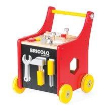 Pracovná detská dielňa - Drevený pracovný vozík Redmaster Bricolo Janod magnetický s 25 doplnkami_4