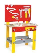 Dřevěný pracovní stůl pro děti Redmaster Bricolo M Janod magnetický s 24 doplňky