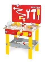 Drevená detská dielňa a náradie - Drevený pracovný stôl Redmaster Bricolo M Janod magnetický s 24 doplnkami_0
