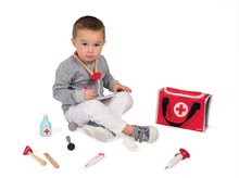 Lekárské vozíky pre deti - Drevený lekársky kufrík Doctor Janod s 10 doplnkami od 3 rokov_1