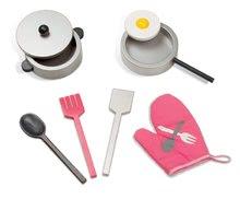 Drevené kuchynky - Drevená kuchynka Mademoiselle Maxi Cooker Janod s 8 doplnkami ružová_0