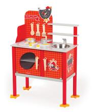 Dřevěná magnetická kuchyňka Francouzský kohout Maxi Cooker Janod s 8 doplňky