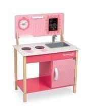 Janod detská drevená kuchynka My first Mademoiselle Cooker 06566 ružová