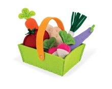 Janod textilní košík pro deti se zeleninou 06578