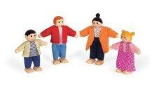 Drevená sada postavičiek Mademoiselle Janod rodinka do domčeka pre bábiky 4 diely
