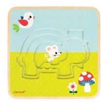 Puzzle pre najmenších - Drevené puzzle pre najmenších Rodinka korytnačiek Janod 3-vrstvové 9 dielov od 24 mes_6