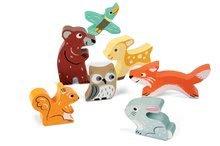 Puzzle pre najmenších - Drevené puzzle pre najmenších Lesné zvieratá Chunky Janod 7 dielov od 18 mes_0