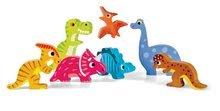Puzzle pre najmenších - Drevené puzzle pre najmenších Dinosaurus Chunky Janod 7 dielov od 18 mes_0