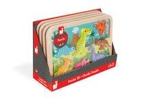Puzzle pre najmenších - Drevené puzzle pre najmenších Dinosaurus Chunky Janod 7 dielov od 18 mes_1