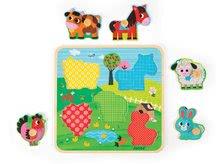 Puzzle pre najmenších - Drevené puzzle pre najmenších Happines Farm Janod 5 dielov od 18 mes_1