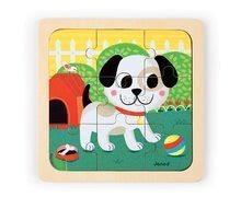 Puzzle pre najmenších - Drevené puzzle pre najmenších Titus Dog Janod 9 dielov od 18 mes_0